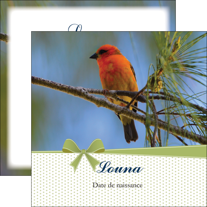 personnaliser modele de flyers oiseau nature arbre MIS36349