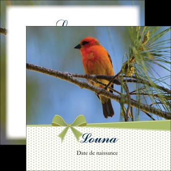 personnaliser modele de flyers oiseau nature arbre MIF36349