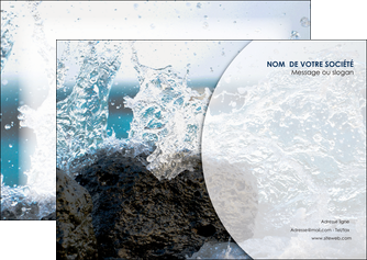 creation graphique en ligne flyers eau flot mer MLGI36395