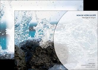 faire modele a imprimer affiche eau flot mer MLGI36405