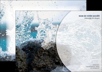 personnaliser modele de affiche eau flot mer MLGI36407