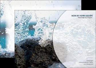 creation graphique en ligne flyers eau flot mer MLGI36409