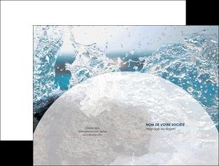 personnaliser maquette pochette a rabat eau flot mer MLGI36415