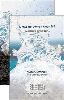 creer modele en ligne carte de visite eau flot mer MLGI36419
