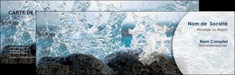 imprimer carte de visite eau flot mer MLGI36421