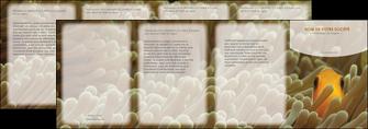 personnaliser maquette depliant 4 volets  8 pages  animal nemo macro original MLGI36437