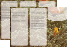 creation graphique en ligne depliant 3 volets  6 pages  animal nemo macro original MLGI36447