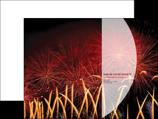 personnaliser maquette pochette a rabat 14 juillet feux dartifice artificier MLGI36627