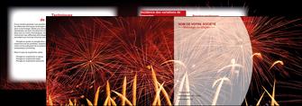 maquette en ligne a personnaliser depliant 2 volets  4 pages  14 juillet feux dartifice artificier MLGI36629