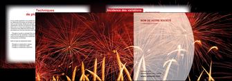 exemple depliant 2 volets  4 pages  14 juillet feux dartifice artificier MIS36631