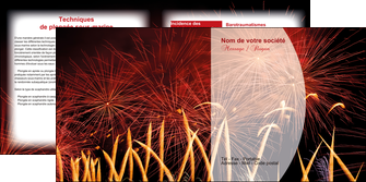 realiser depliant 2 volets  4 pages  14 juillet feux dartifice artificier MLGI36647
