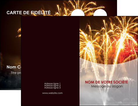 Personnaliser Maquette Carte De Visite Feu Dartifice Eclat Lumiere MLGI36679