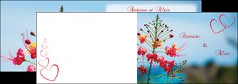 personnaliser modele de depliant 2 volets  4 pages  fleur heureux ciel bleu MLGI36769