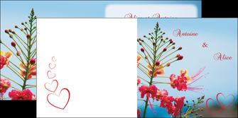 cree depliant 2 volets  4 pages  fleur heureux ciel bleu MLGI36773