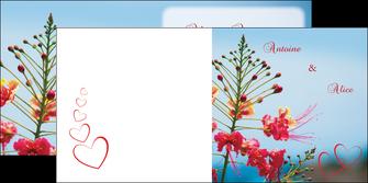 impression depliant 2 volets  4 pages  fleur heureux ciel bleu MLIG36775