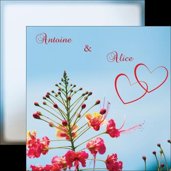 imprimer flyers fleur heureux ciel bleu MLIG36777