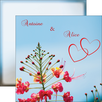 imprimer flyers fleur heureux ciel bleu MLGI36777