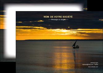 creation graphique en ligne flyers sejours pirogue couche de soleil mer MLGI36903