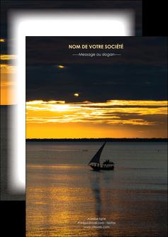creer modele en ligne flyers sejours pirogue couche de soleil mer MLGI36905