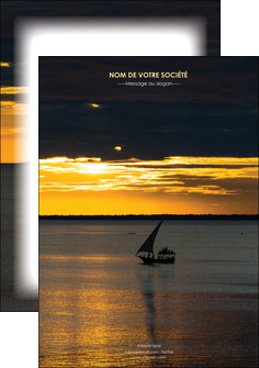 faire modele a imprimer affiche sejours pirogue couche de soleil mer MLGI36907