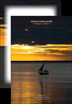 creer modele en ligne affiche sejours pirogue couche de soleil mer MLGI36909
