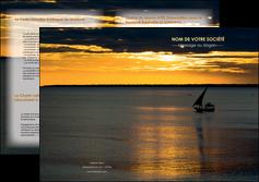 creer modele en ligne depliant 2 volets  4 pages  sejours pirogue couche de soleil mer MLGI36913