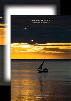 faire flyers sejours pirogue couche de soleil mer MLGI36915