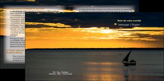 imprimer depliant 2 volets  4 pages  sejours pirogue couche de soleil mer MLGI36917