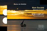 imprimer carte de visite sejours pirogue couche de soleil mer MLIP36923