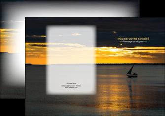 personnaliser maquette pochette a rabat sejours pirogue couche de soleil mer MLGI36925