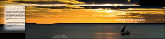 impression depliant 2 volets  4 pages  sejours pirogue couche de soleil mer MLGI36927