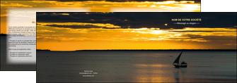 maquette en ligne a personnaliser depliant 2 volets  4 pages  sejours pirogue couche de soleil mer MLGI36929