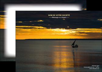 personnaliser maquette flyers sejours pirogue couche de soleil mer MLGI36931