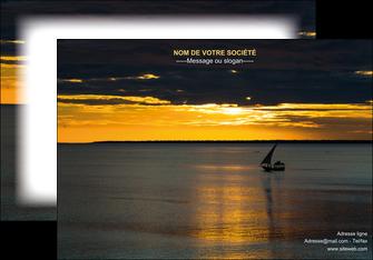 imprimerie affiche sejours pirogue couche de soleil mer MLGI36935