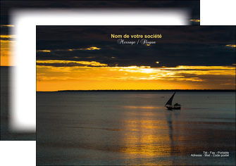 creation graphique en ligne flyers sejours pirogue couche de soleil mer MLGI36937
