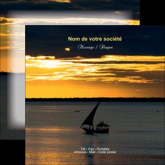 imprimer flyers sejours pirogue couche de soleil mer MLGI36945