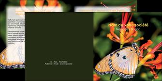 exemple depliant 2 volets  4 pages  belle photo de papillon macro couleur MLGI36979