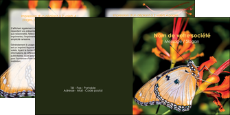 exemple depliant 2 volets  4 pages  belle photo de papillon macro couleur MLGI36979