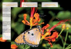 impression depliant 3 volets  6 pages  belle photo de papillon macro couleur MLGI36983