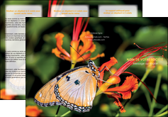 impression depliant 3 volets  6 pages  belle photo de papillon macro couleur MLGI36983