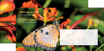 personnaliser modele de enveloppe belle photo de papillon macro couleur MLGI36987