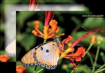 imprimerie affiche belle photo de papillon macro couleur MLGI36989