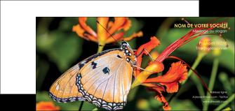 impression carte de correspondance belle photo de papillon macro couleur MLGI36993