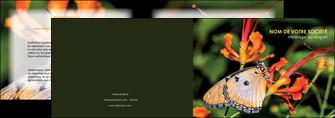 impression depliant 2 volets  4 pages  belle photo de papillon macro couleur MLGI36999