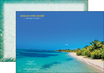 creer modele en ligne flyers sejours plage sable mer MLGI37035