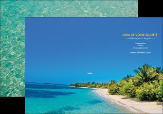 personnaliser maquette pochette a rabat sejours plage sable mer MLIP37041