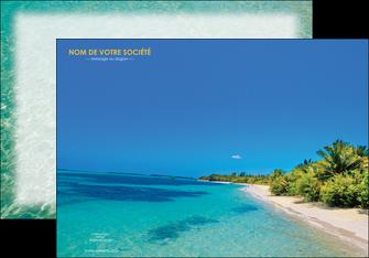 creation graphique en ligne affiche sejours plage sable mer MLIP37045