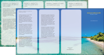 exemple depliant 4 volets  8 pages  sejours plage sable mer MLIP37047