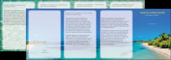imprimer depliant 4 volets  8 pages  sejours plage sable mer MLIP37051