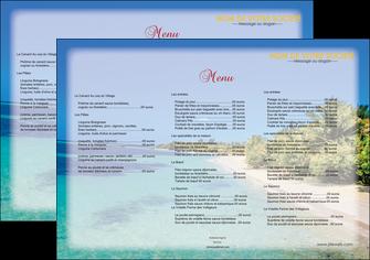 imprimerie set de table sejours plage sable mer MLGI37053